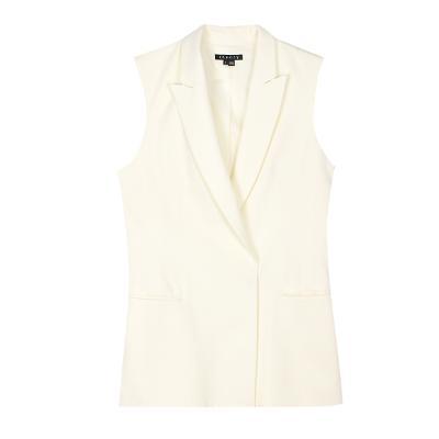 modern vest jacket ivory